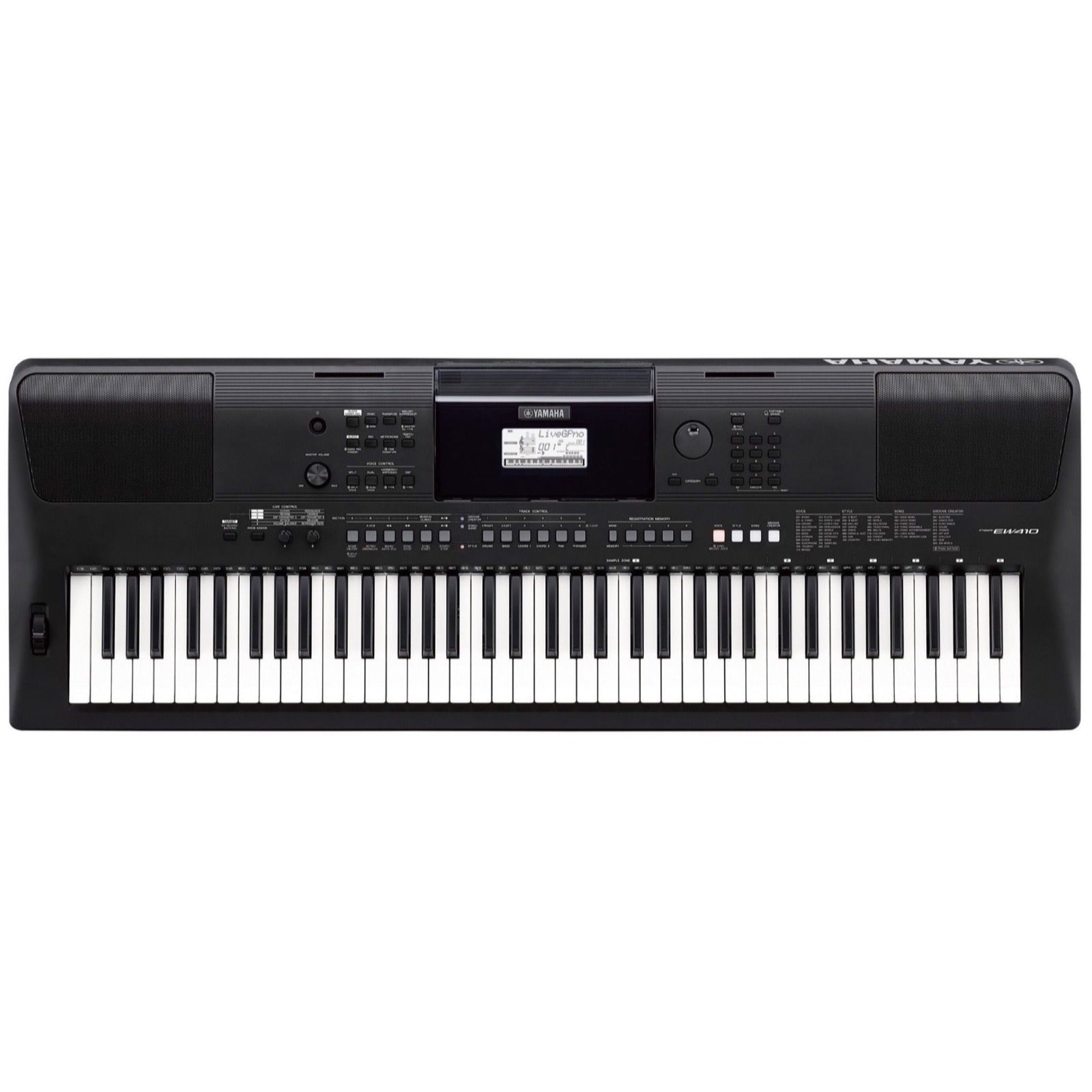 Yamaha PSR-EW410 Portable Keyboard, 76-Key, Education Pack, with X Stand, AC Adapter, and Headphones