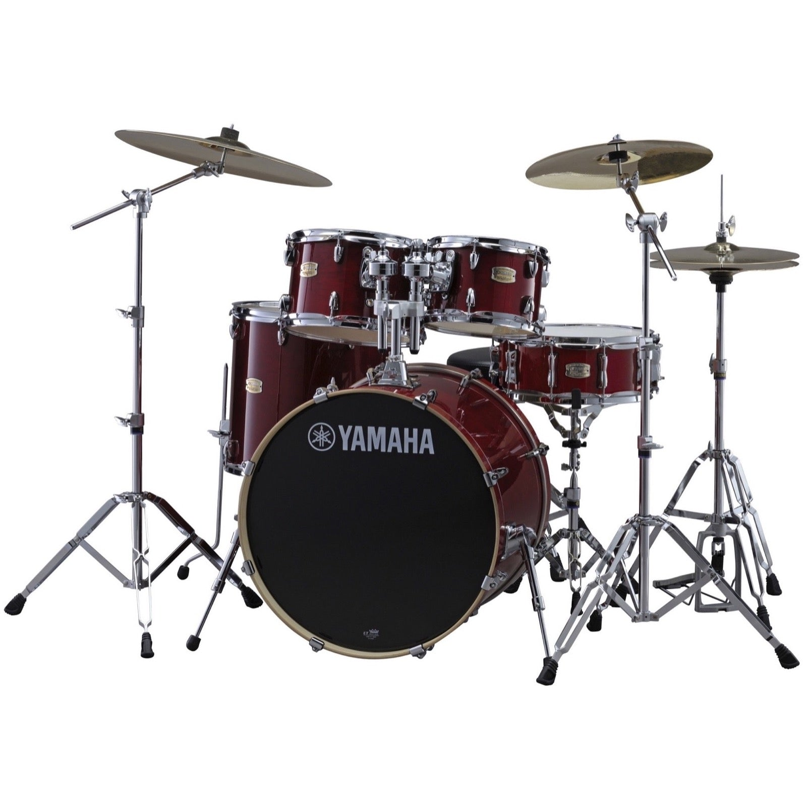 Yamaha SBP2F50 Stage Custom Drum Shell Kit, 5-Piece, Cranberry Red