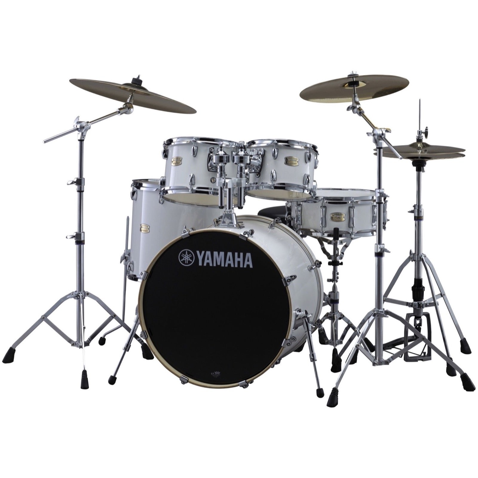 Yamaha SBP2F50 Stage Custom Drum Shell Kit, 5-Piece, Pure White