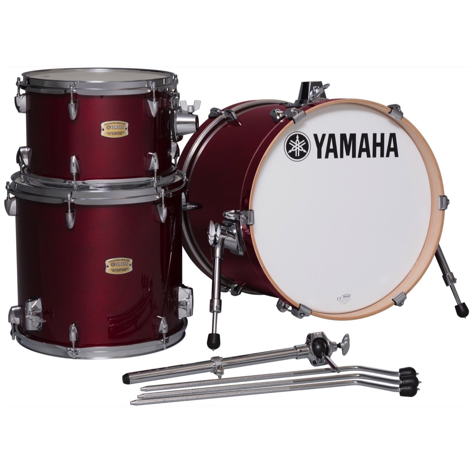 Yamaha SBP8F3 Stage Custom Bop Drum Shell Kit, 3-Piece, Cranberry Red
