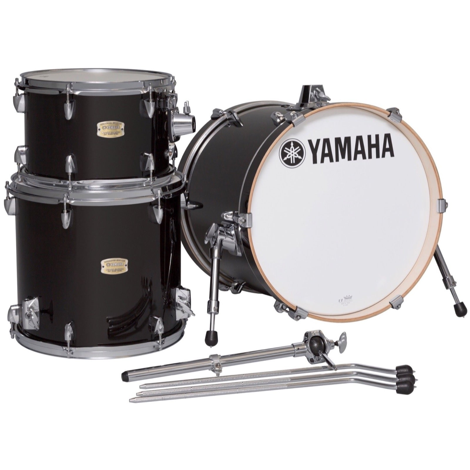 Yamaha SBP8F3 Stage Custom Bop Drum Shell Kit, 3-Piece, Raven Black