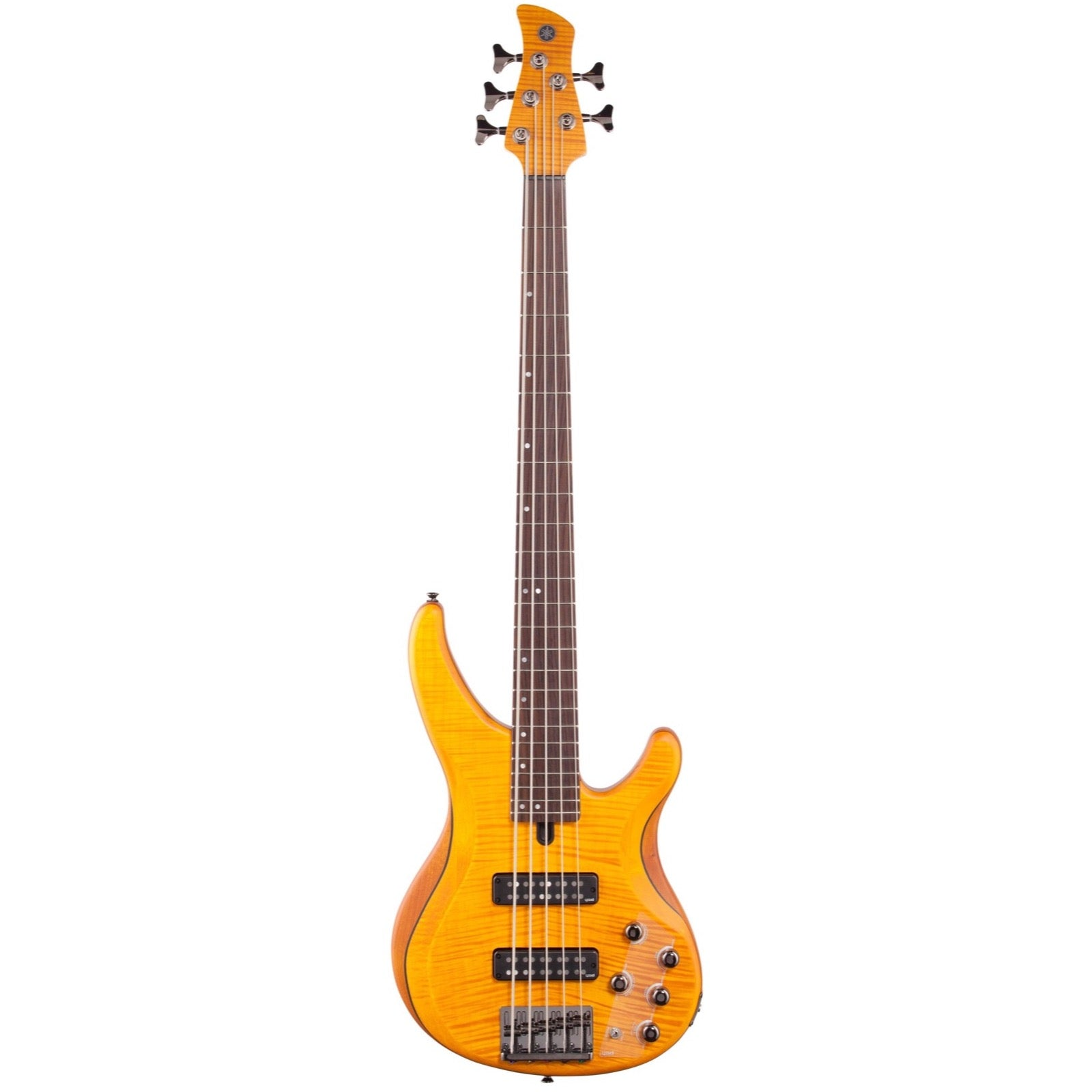 Yamaha TRBX605FM Electric Bass, 5-String, Matte Amber