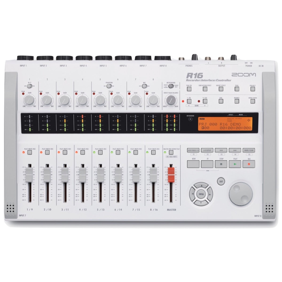 Zoom R16 Multi-Track SD Recorder Interface and Controller