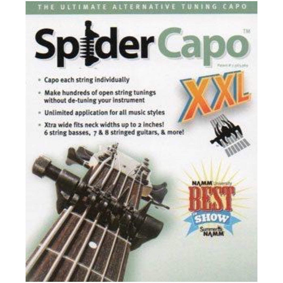 Creative Tunings SpiderCapo XXL SpiderCapo for 8-String and Bass Guitars