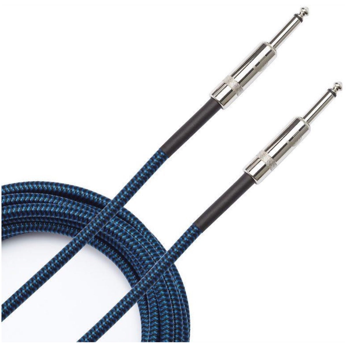 D'Addario Braided Instrument Cable, Blue, PW-BG-15BU, 15 Foot