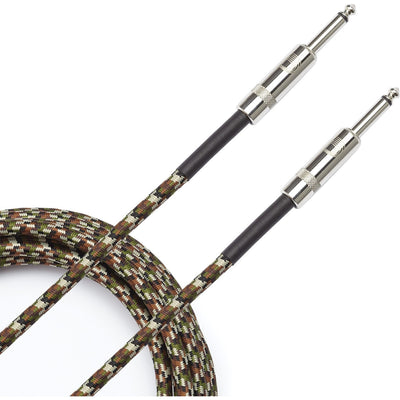 D'Addario Braided Instrument Cable, Camouflage, PW-BG-15CF, 15 Foot