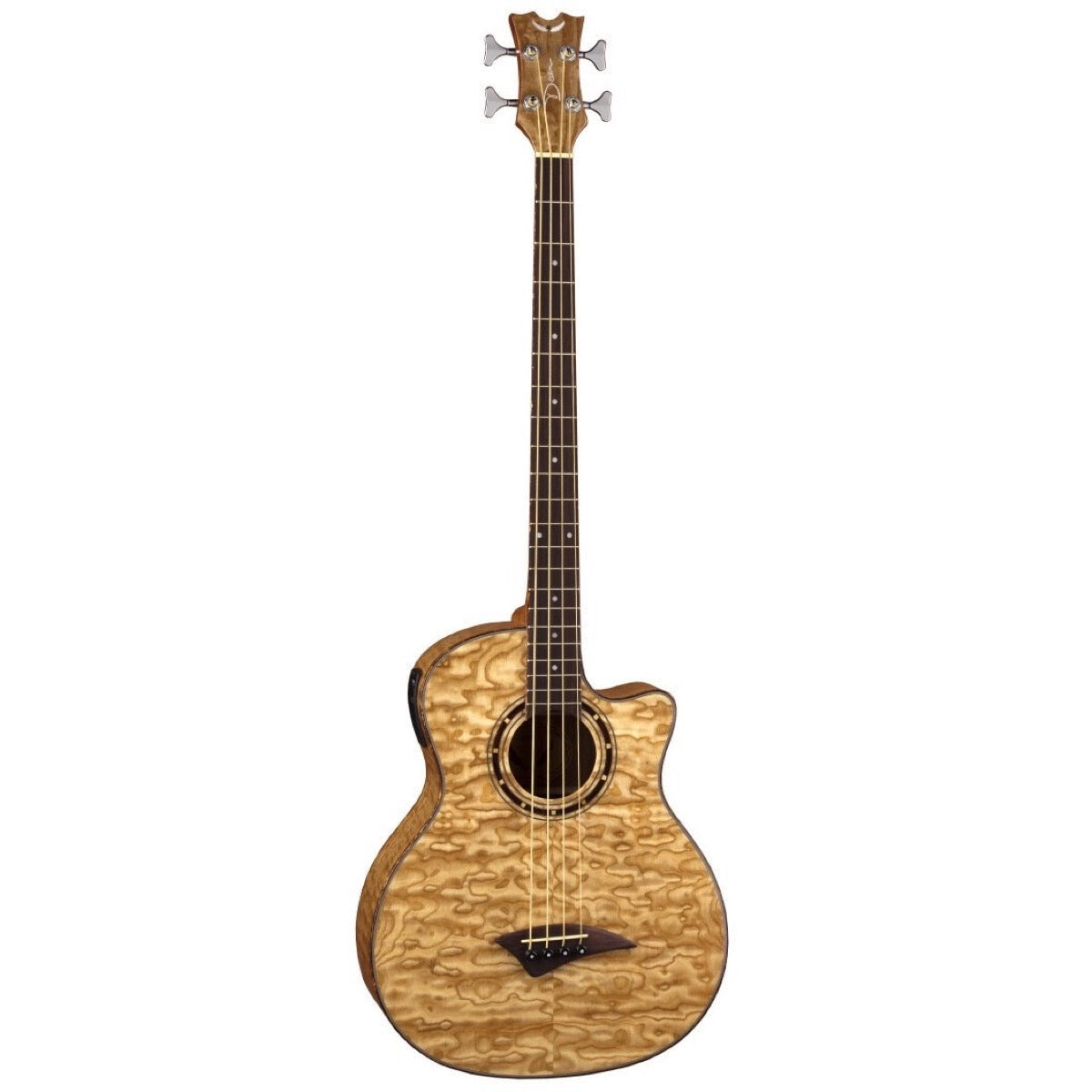 Dean Exotica Quilt Ash Acoustic-Electric Bass, Gloss Natural
