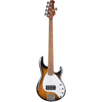 Ernie Ball Music Man StingRay Special 5H Electric Bass, 5-String, Maple Fingerboard (with Case), Vintage Tobacco