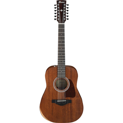 Ibanez AW5412JR Artwood Traditional Acoustic Guitar (with Gig Bag), Open Pore Natural