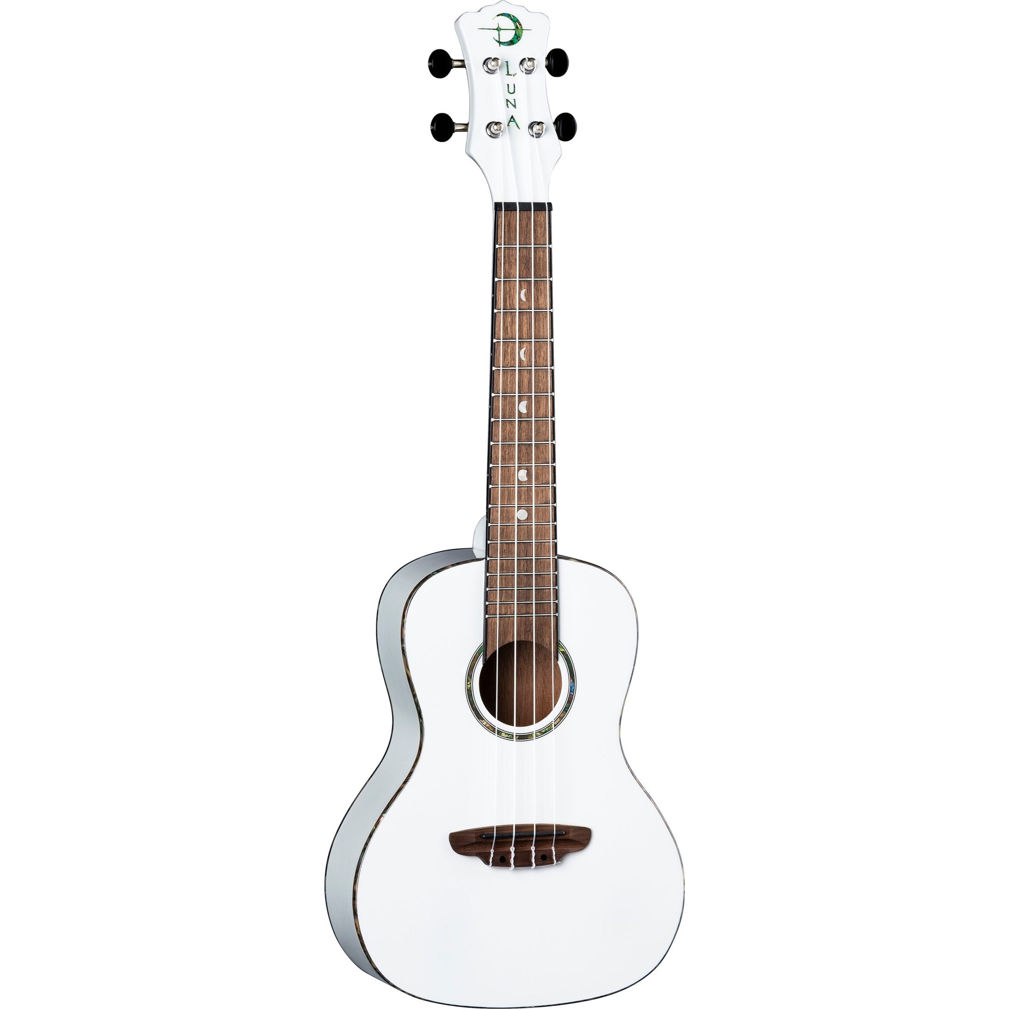 Luna Hau Snow Concert Ukulele (with Gig Bag)