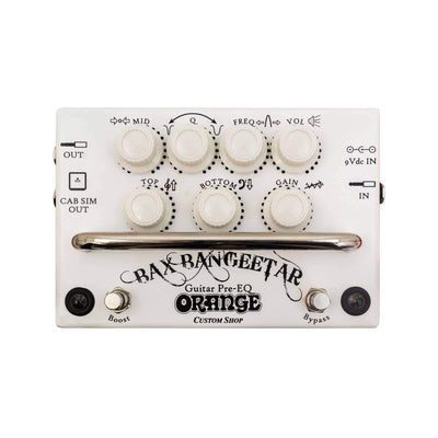 Orange Bax Bangeetar Preamp Equalizer Pedal, White