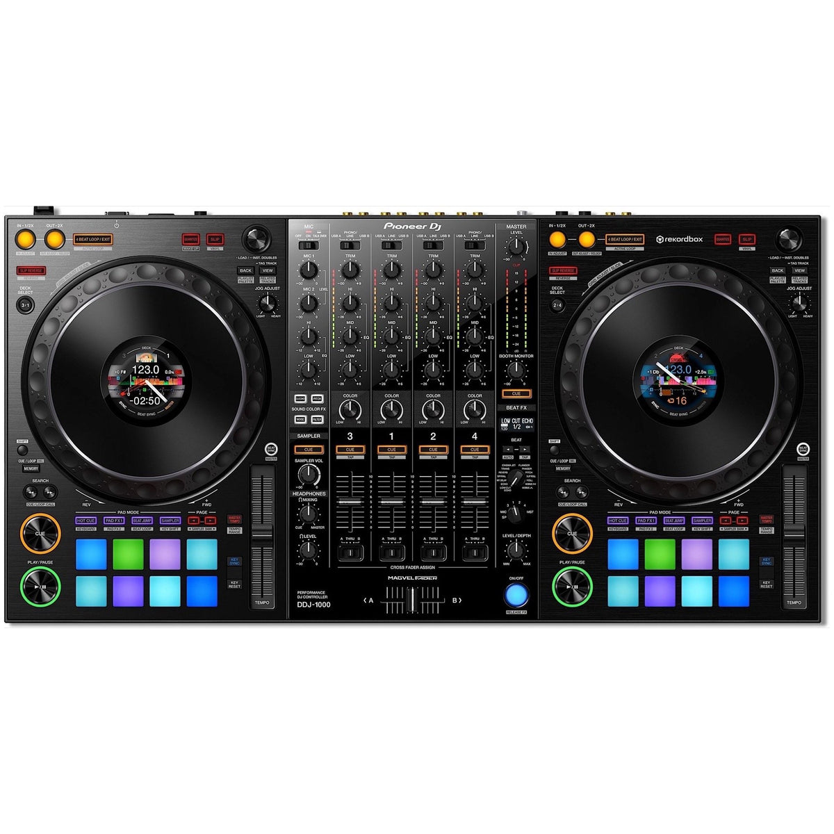 Pioneer DDJ-1000 Professional Controller for Rekordbox DJ, with Odyssey BMSLDDJ1000 Gig Bag