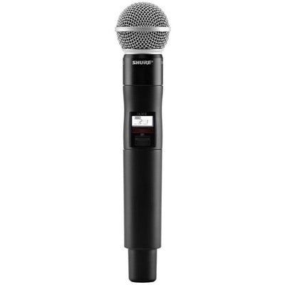 Shure QLXD24SM58 Wireless System with SM58 Microphone Handheld Transmitter, Band G50 (470 - 534 MHz)