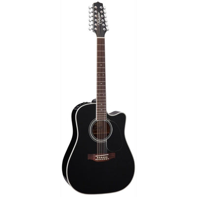Takamine EF381SC Acoustic-Electric Guitar, 12-String (with Case), Black
