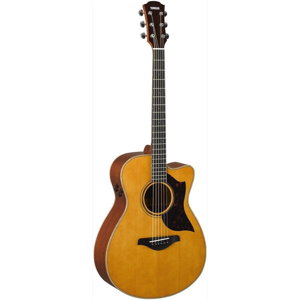 Yamaha AC3M ARE Acoustic-Electric Guitar (with Gig Bag), Vintage Natural