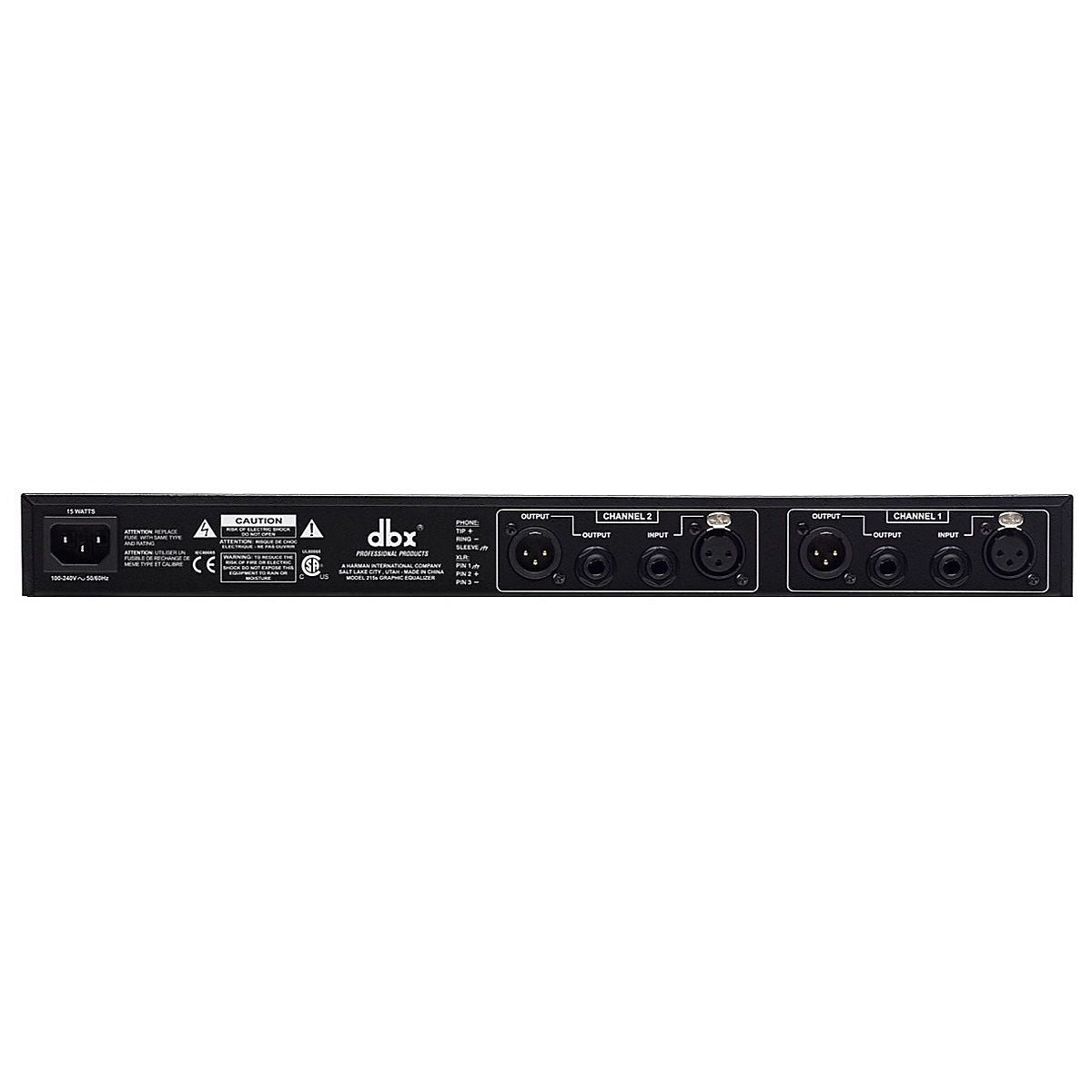 dbx 215S Dual 15-Band Graphic Equalizer
