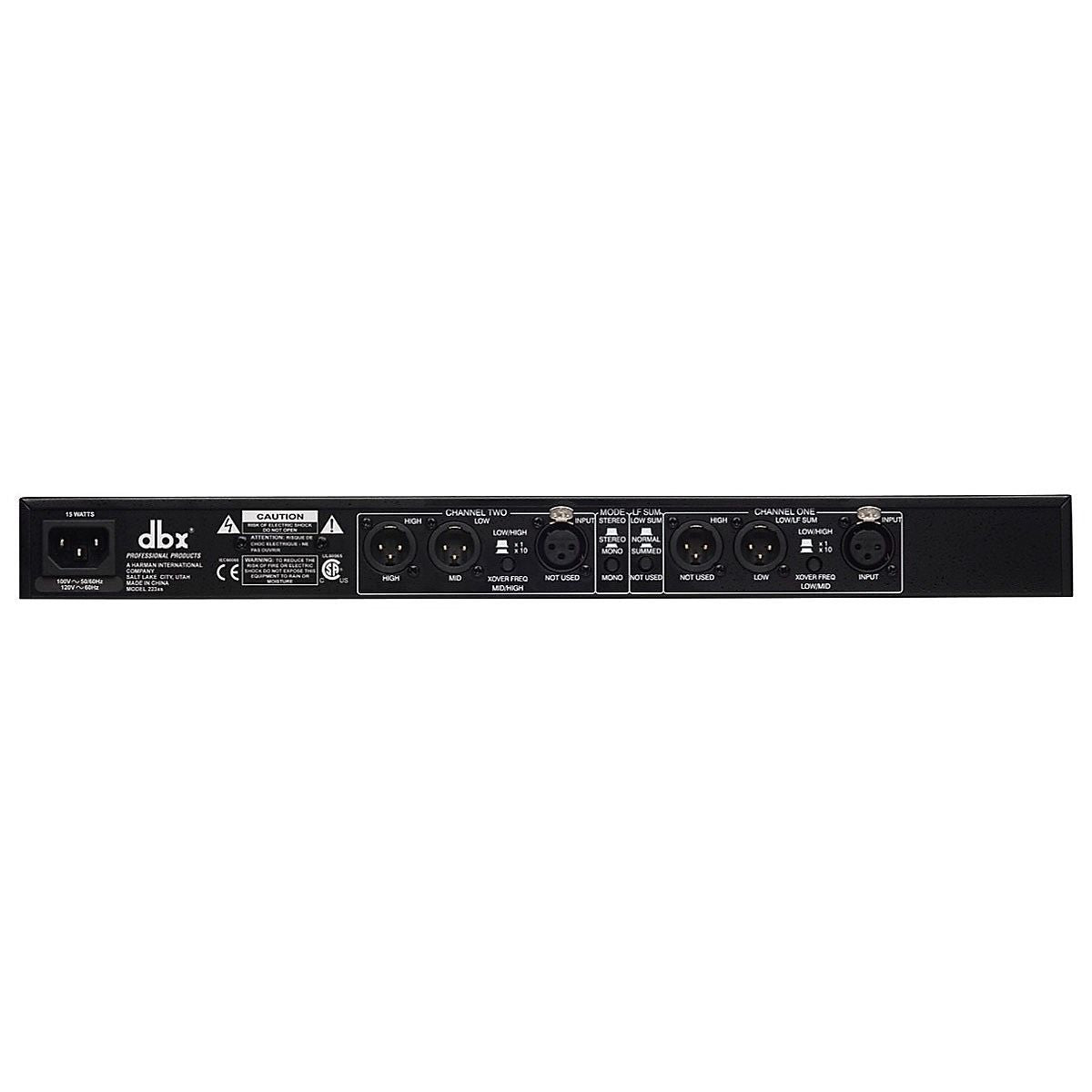 dbx 223XS Crossover, Stereo 2-Way and Mono 3-Way