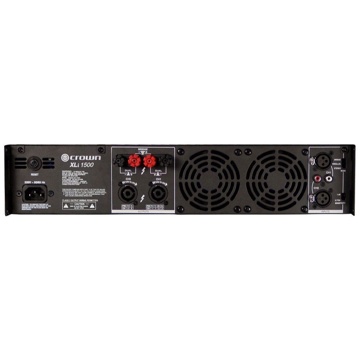 Crown XLI1500 Power Amplifier (450 Watts)