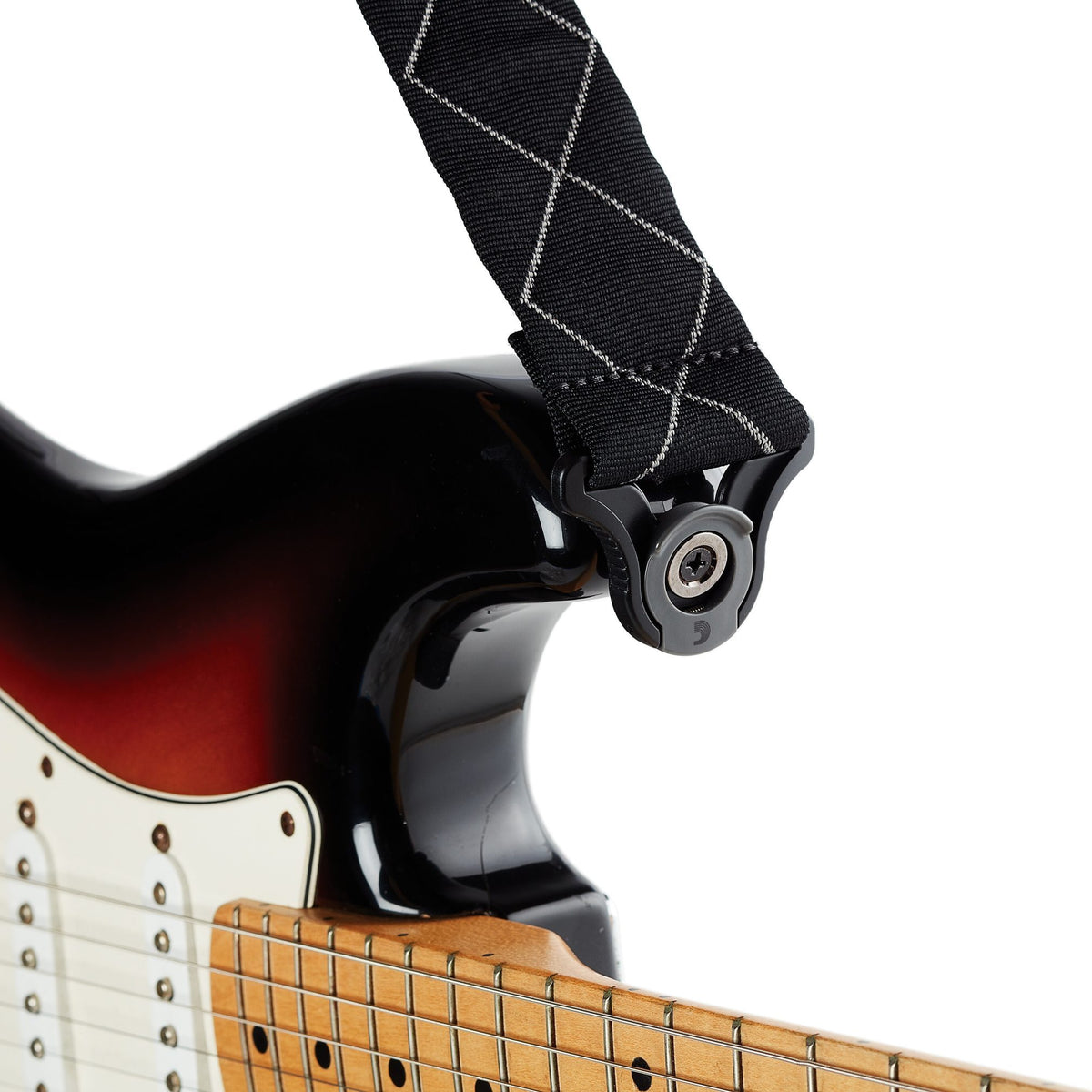 D'Addario Auto-Lock Guitar Strap, Black Padded Diamonds