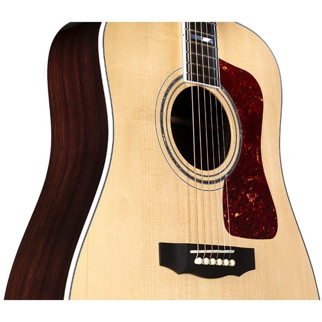 Guild D-55 Acoustic Guitar (with Case), Natural