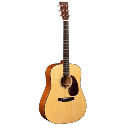 Martin D-18 Dreadnought Acoustic Guitar (with Case), Natural