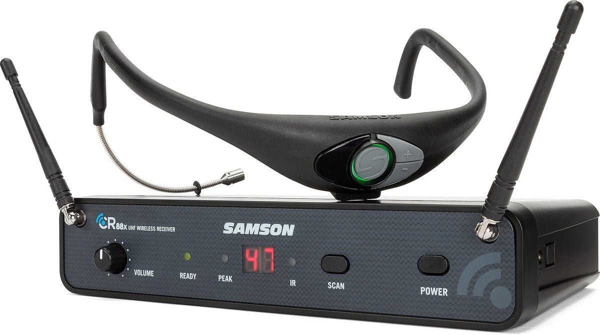 Samson AirLine 88x AH8 Wireless Fitness Headset Microphone System, Channel D