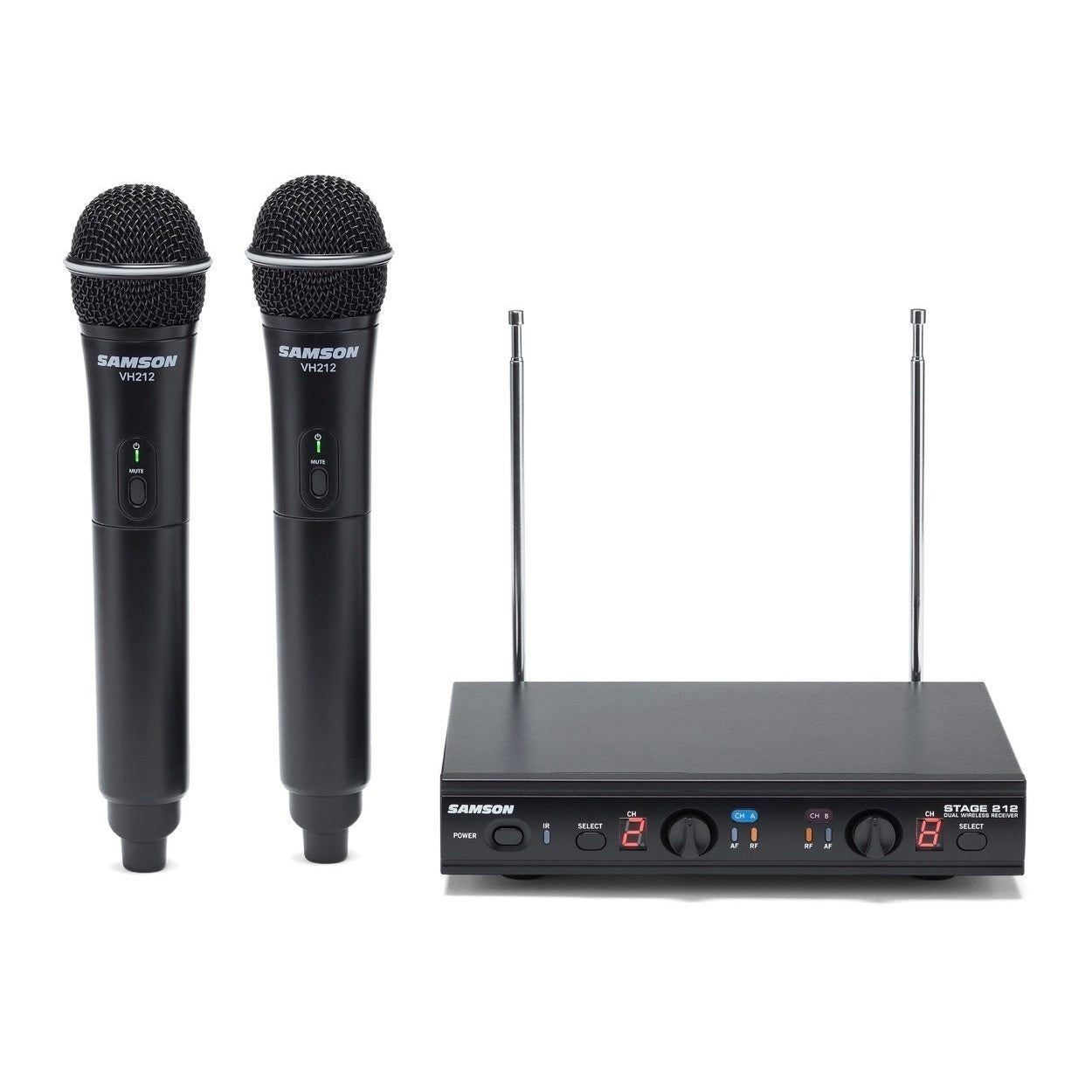 Samson Stage 212 Dual Handheld Vocal VHF Wireless Microphone System