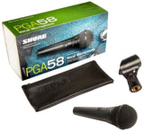 Load image into Gallery viewer, Shure PGA58 Dynamic Vocal Microphone, 6-Pack, with XLR Cables and Carry Bag