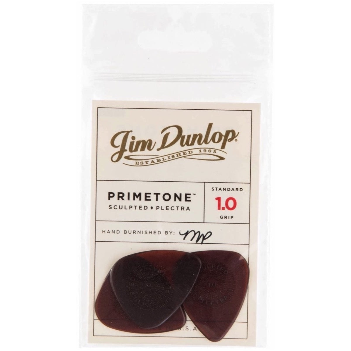 Dunlop 510P Primetone Standard Guitar Picks, 510P1.0, 3-Pack, 1.0mm