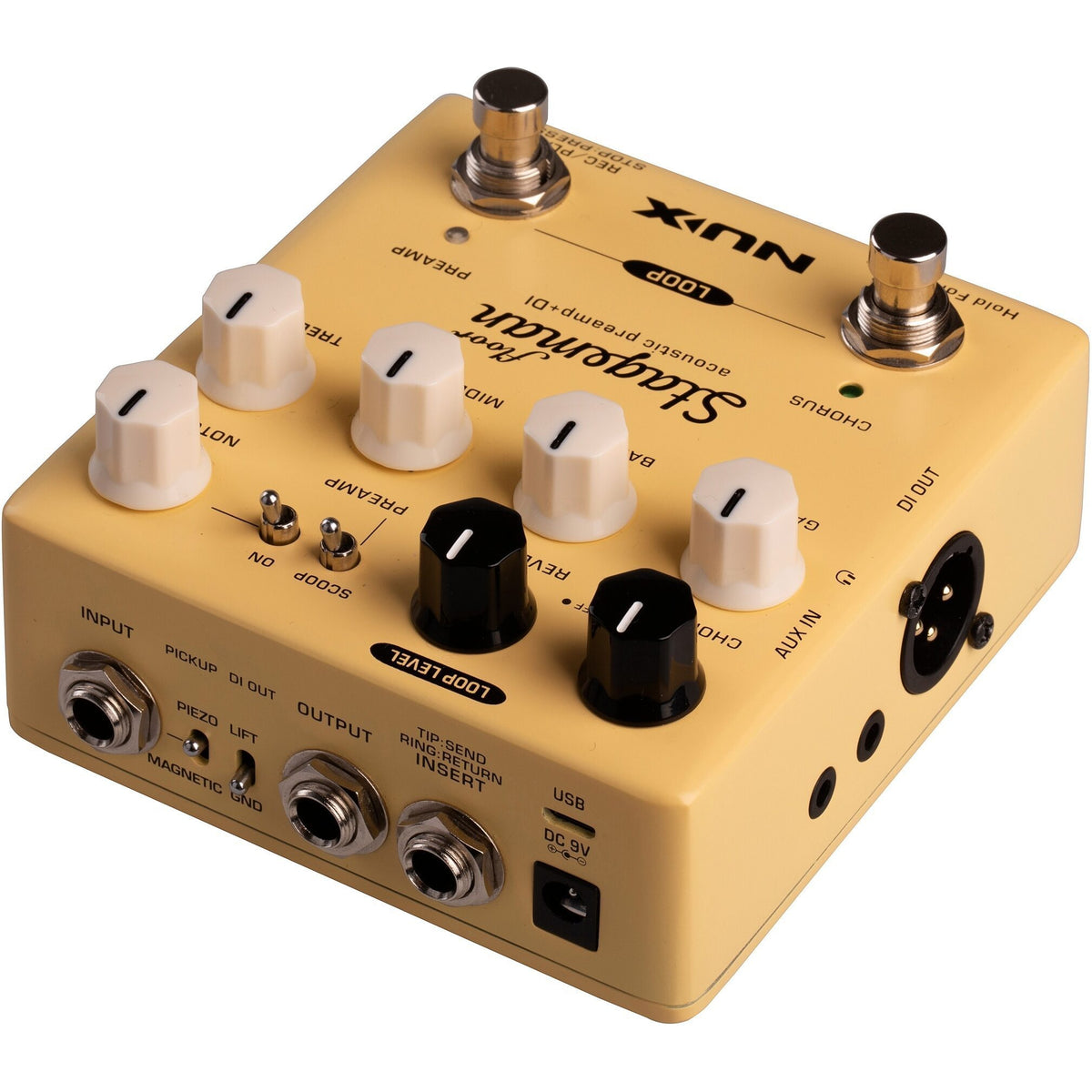 NUX Stageman Floor Acoustic Preamp Pedal with Looper