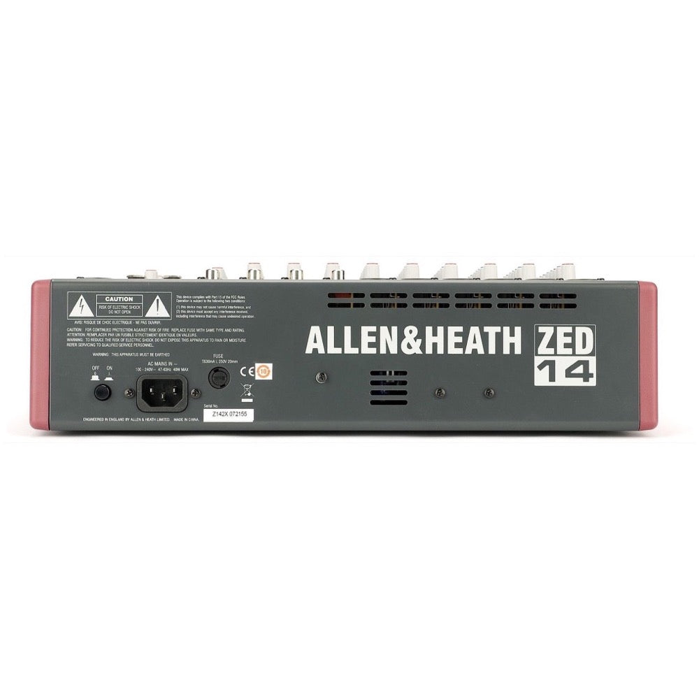 Allen and Heath ZED14 14-Channel Mixer with USB Interface