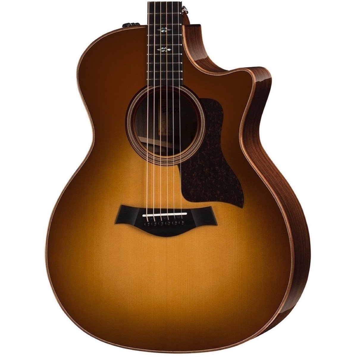 Taylor 714ce V-Class Acoustic-Electric Guitar (with Case), Western Sunburst