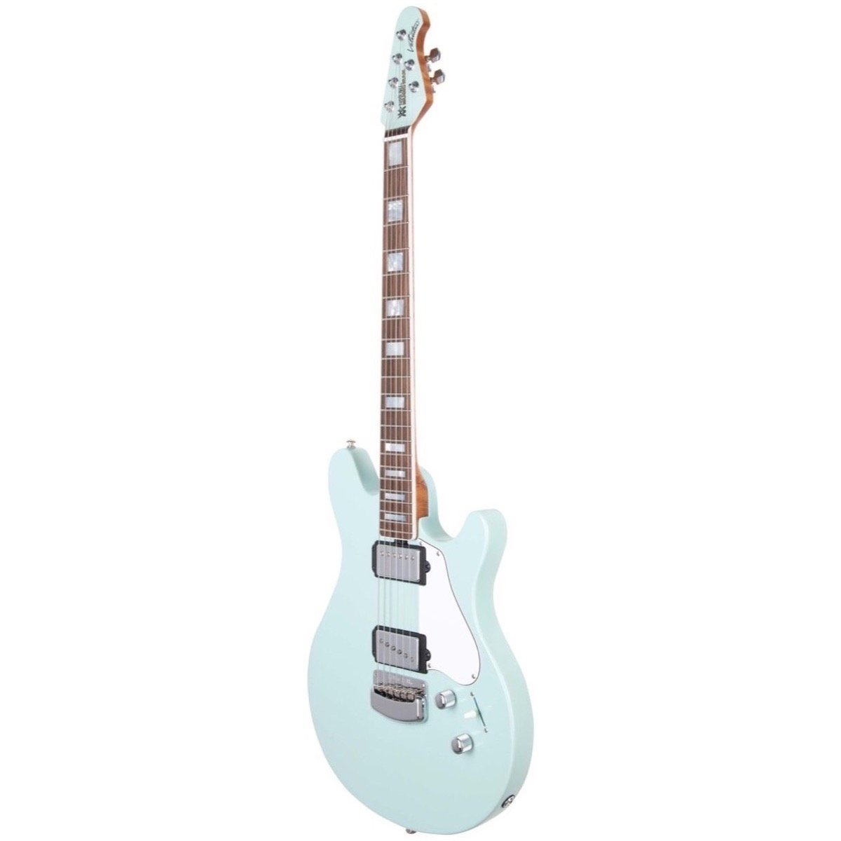 Ernie Ball Music Man BFR Valentine Signature Electric Guitar (with Case), Baby Blue