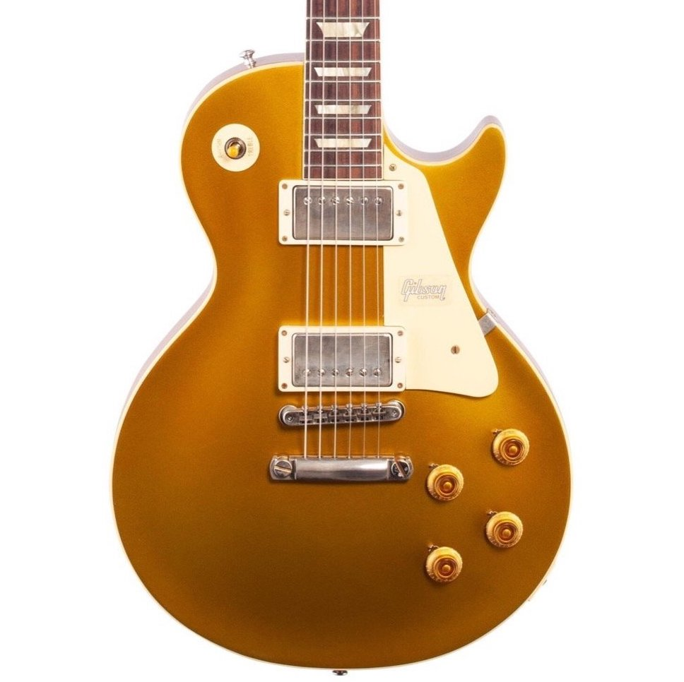 Gibson Custom 57 Les Paul Standard Goldtop VOS Electric Guitar (with Case), Double Gold