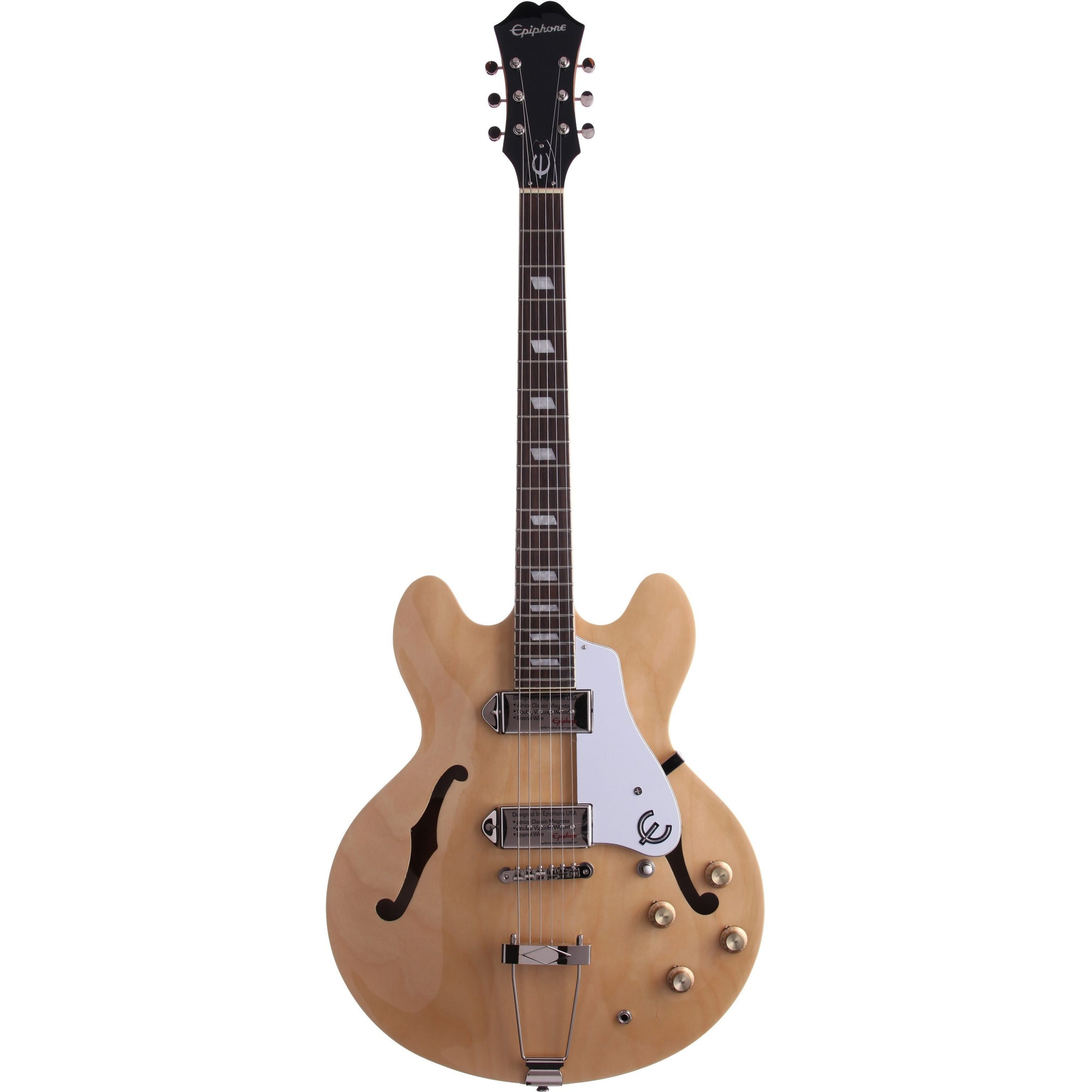 Epiphone Casino Archtop Electric Guitar, Natural