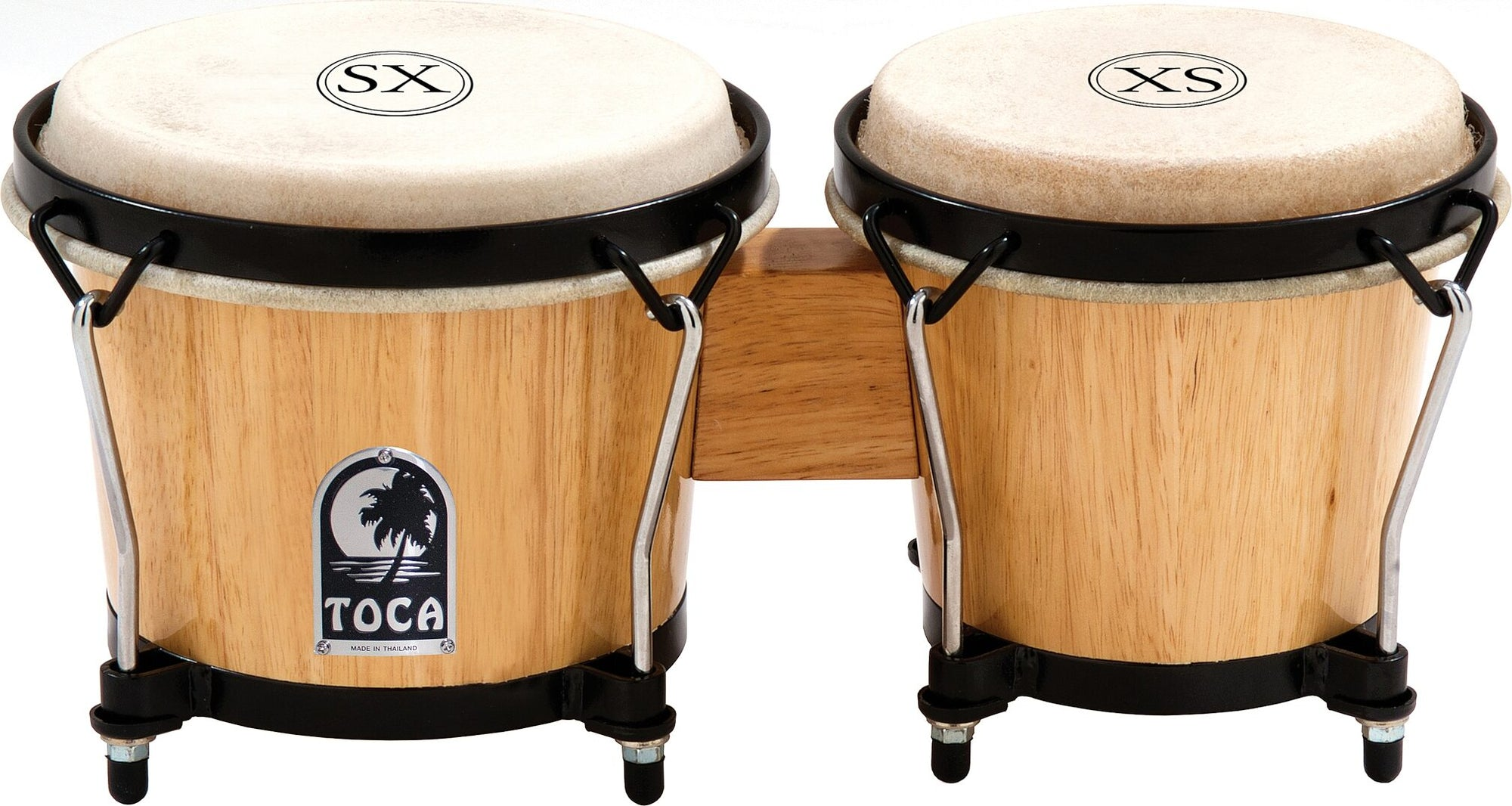 Toca 2101 SX Series Wood Bongos, Natural, 6 and 6 3/4 Inch