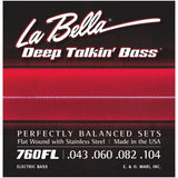 Load image into Gallery viewer, La Bella Deep Talkin Flatwound Stainless Steel Electric Bass Strings, 760FL, 43-104, Light