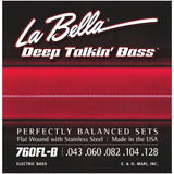 Load image into Gallery viewer, La Bella Deep Talkin Flatwound Stainless Steel 5-String Electric Bass Strings, 760FLB, 43-128, Light