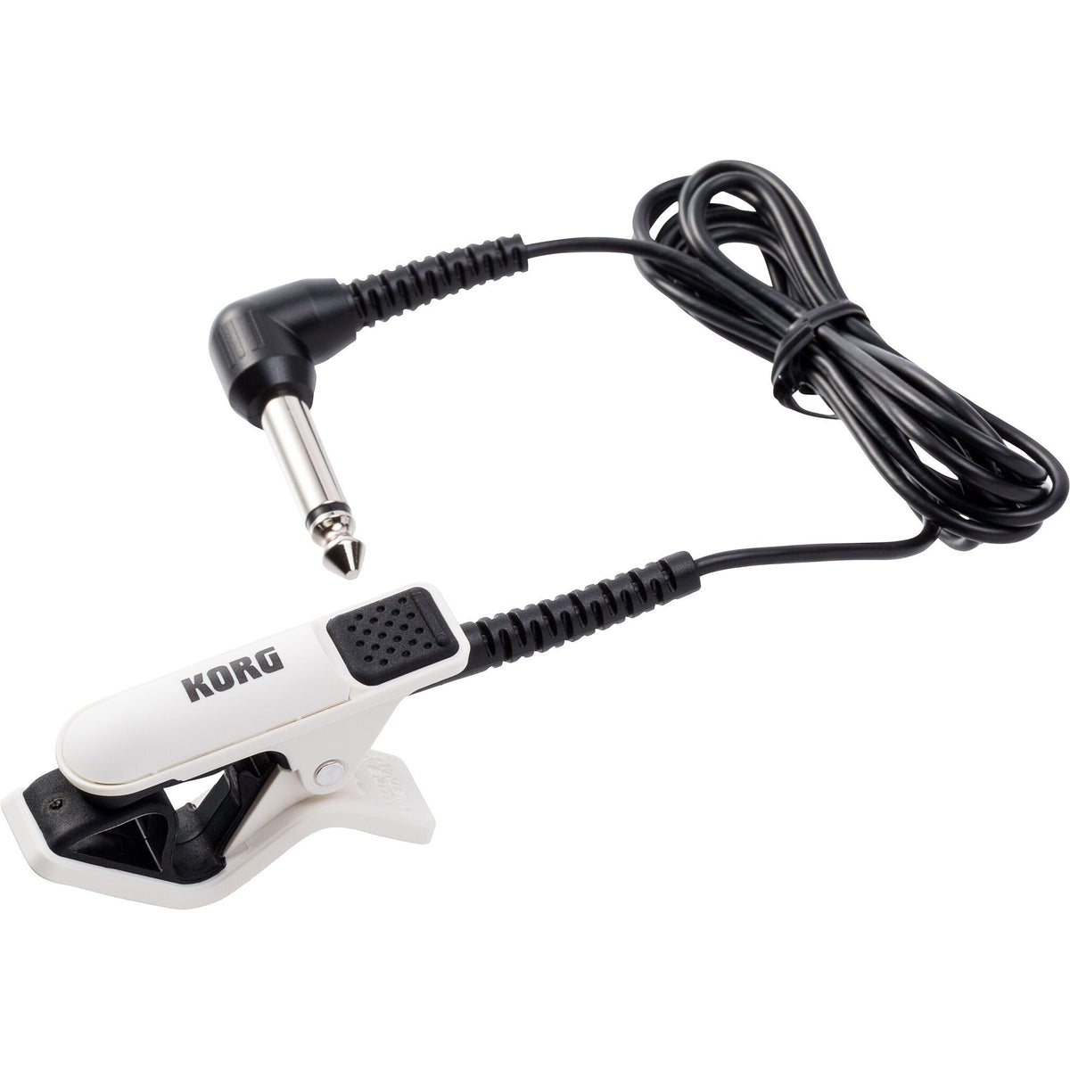 Korg CM-300 Contact Microphone, White/Black