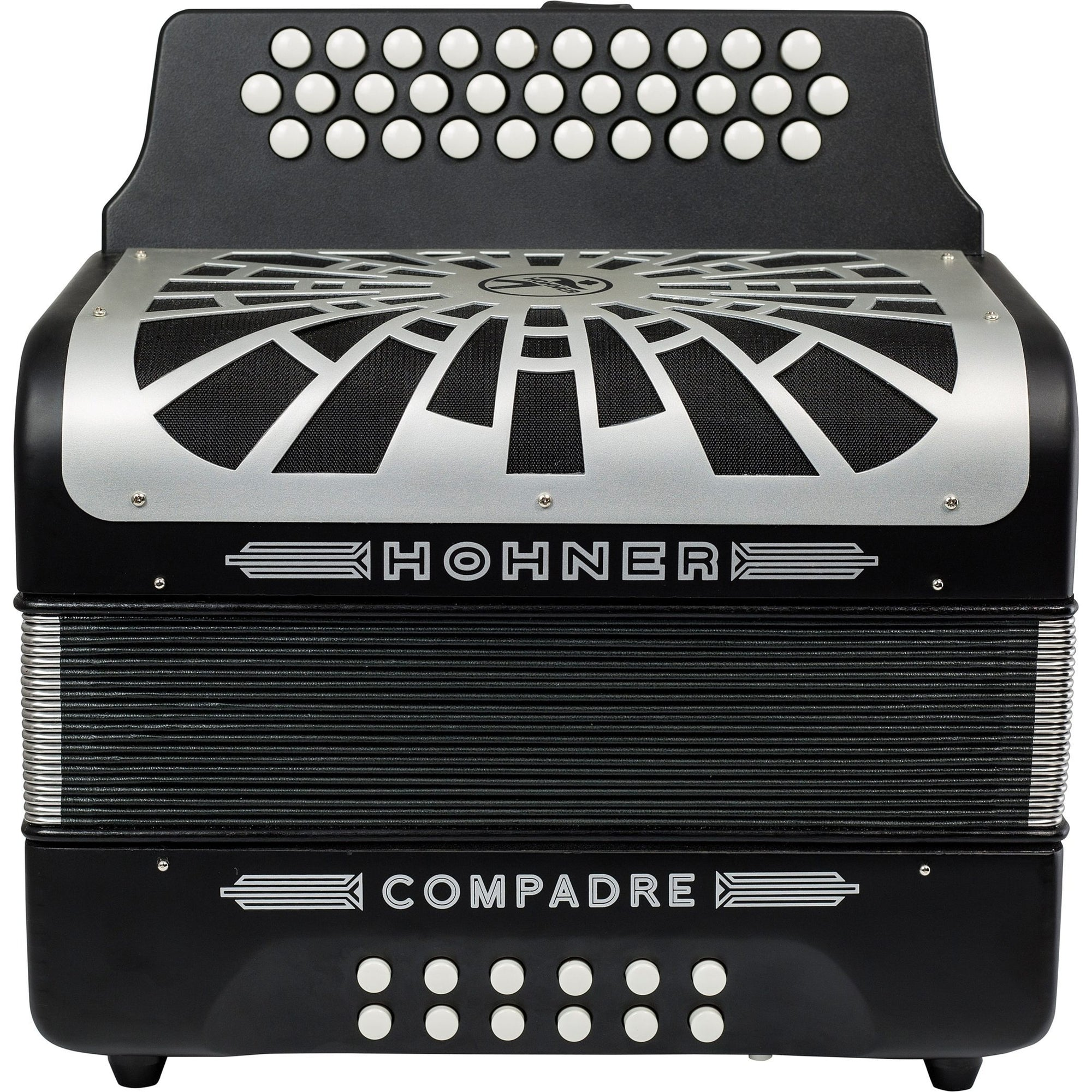 Hohner Compadre Accordion (with Gig Bag), Blac, F/Bb/Eb, with Gig Bag