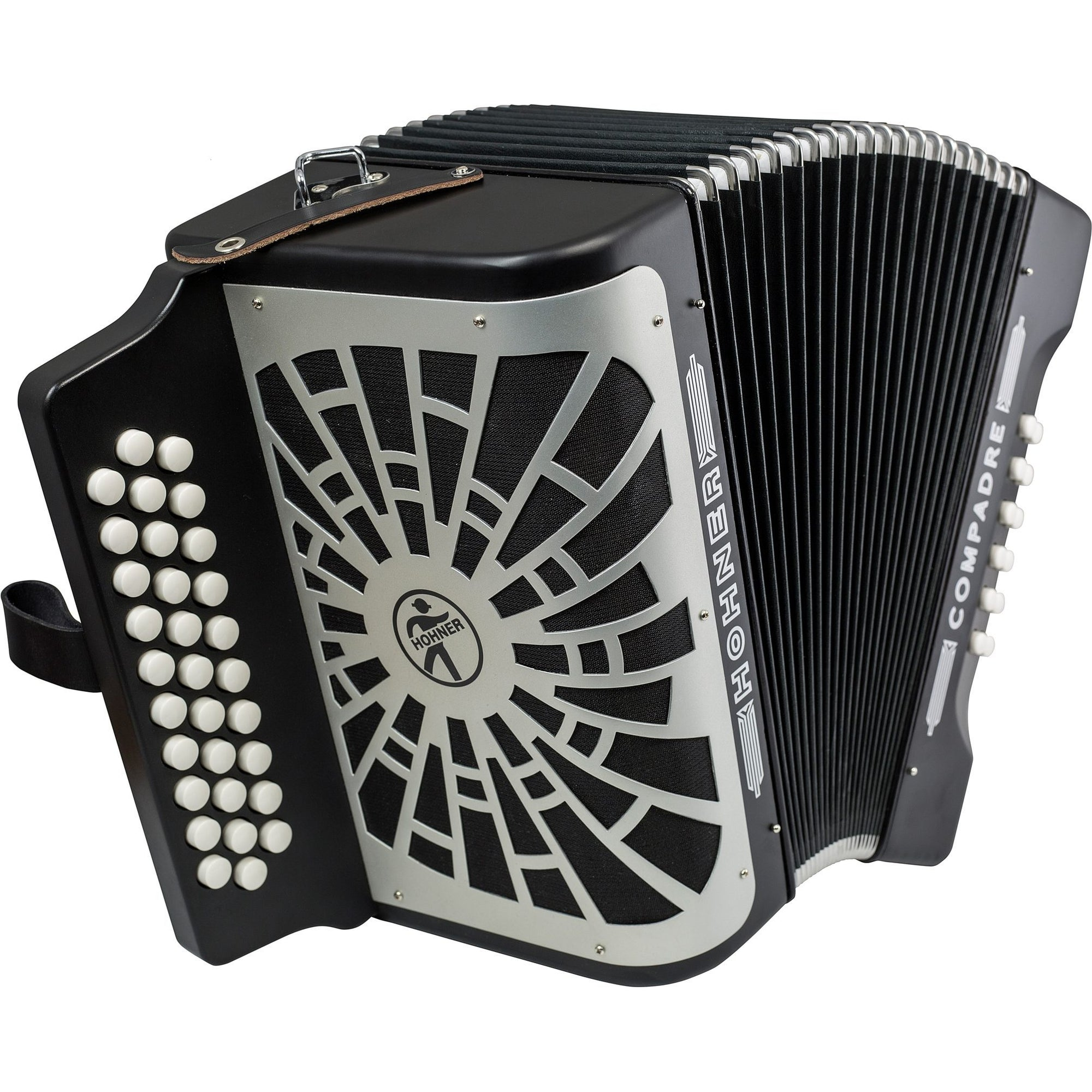 Hohner Compadre Accordion (with Gig Bag), Black, G/C/F, with Gig Bag