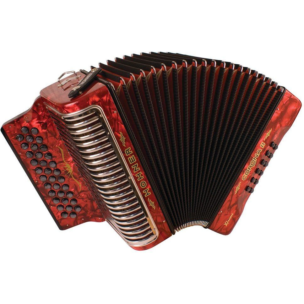 Hohner CXG Corona II Xtreme Accordion, Pearl Red, G/C/F