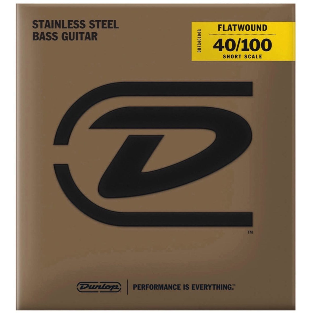 Dunlop Flatwound Stainless Steel Electric Bass Strings (Short Scale), 45-105