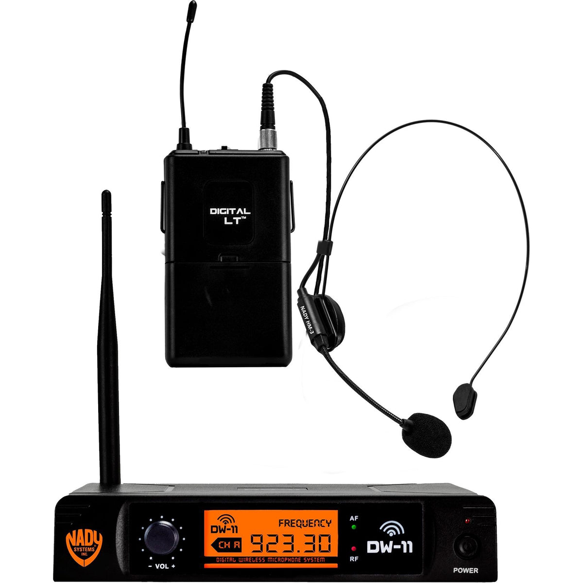 Nady DW-11 Single Transmitter Digital Wireless Headset System, Band D11