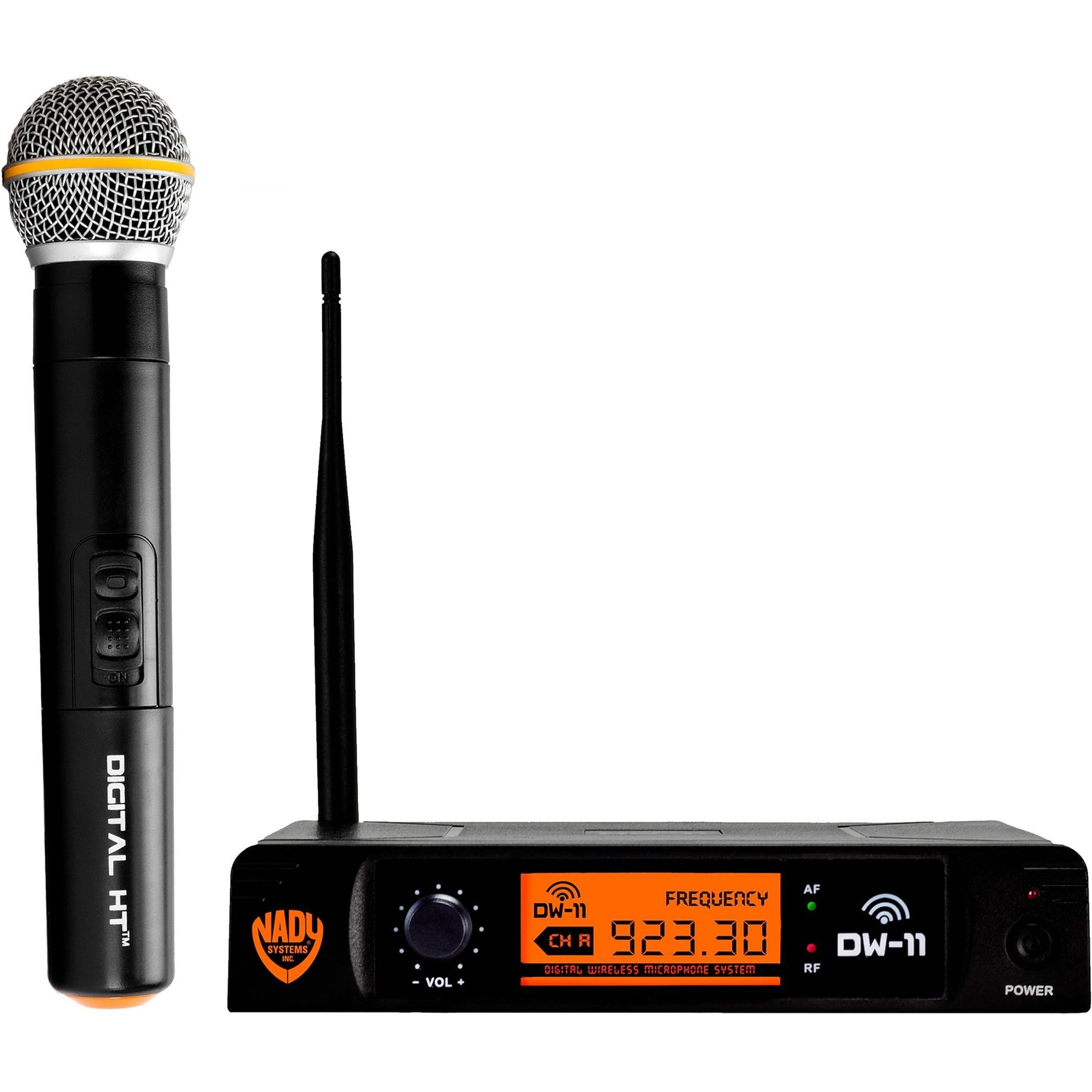 Nady DW-11 HT Single Transmitter Digital Wireless Handheld Microphone System, Channel D-12