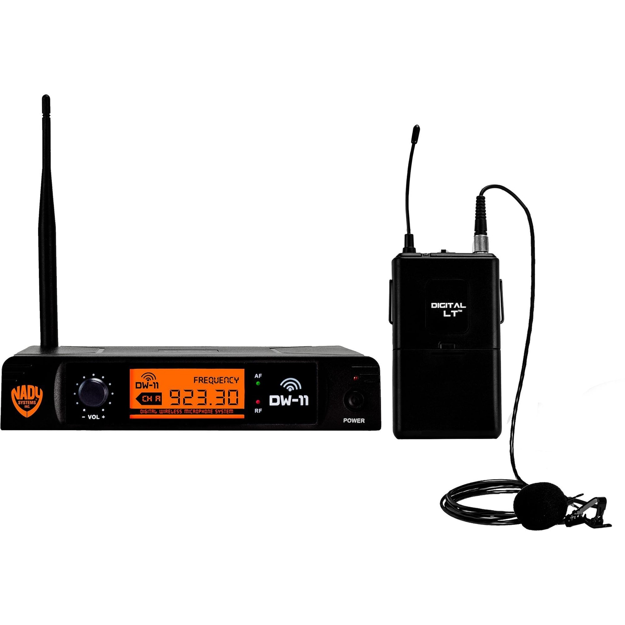 Nady DW-11 Single Transmitter Digital Wireless Lavalier System, Channel D-11