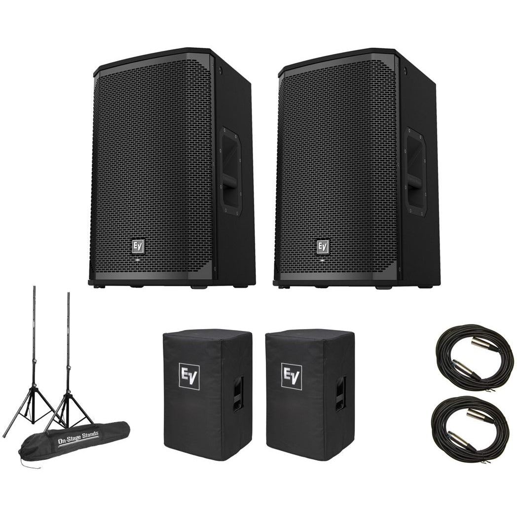 Electro-Voice EKX-12P Powered Speaker, Pair, with Speaker Pack