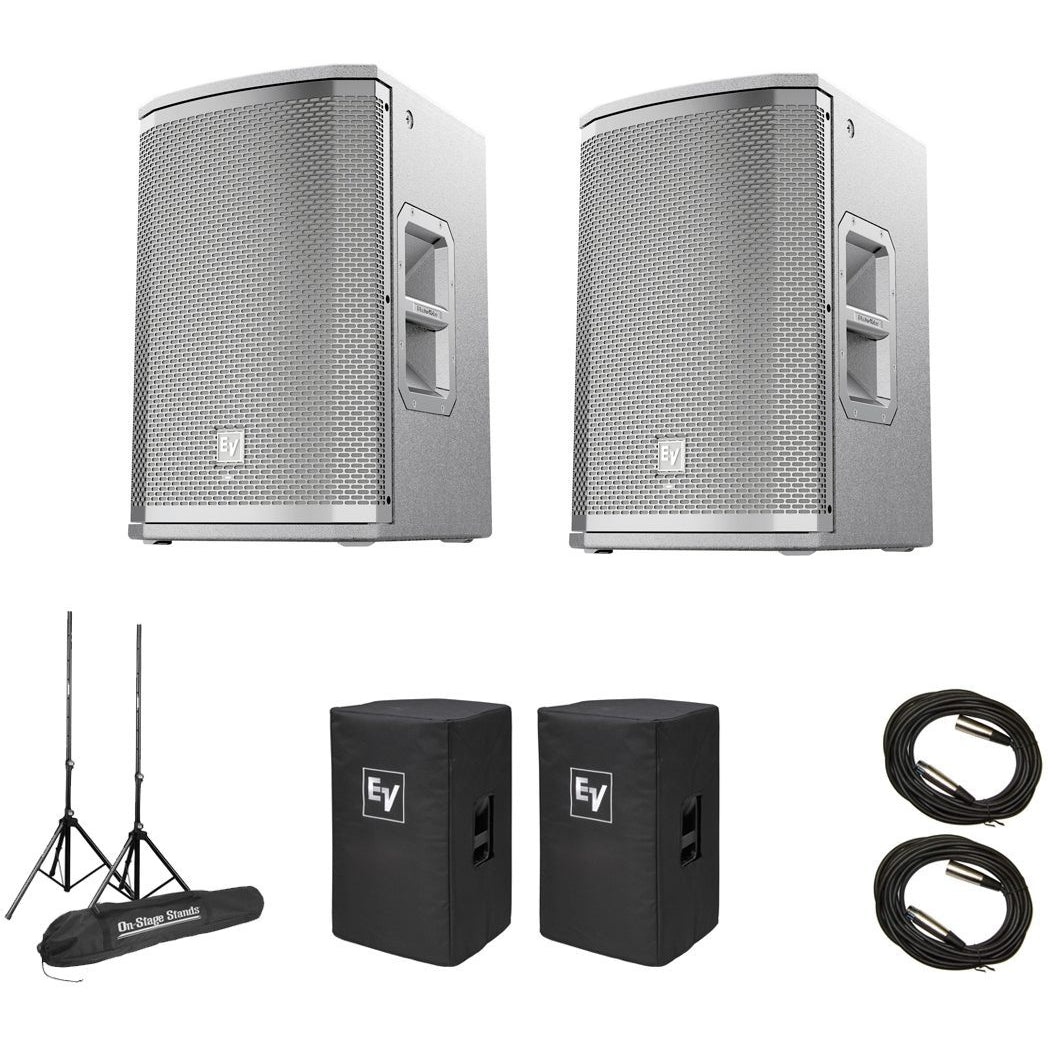Electro-Voice ETX-10P 2-Way Powered Loudspeaker, Pair, with Speaker Pack