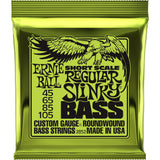 Load image into Gallery viewer, Ernie Ball Regular Slinky Nickel Wound Short Scale Electric Bass Strings, 45-105