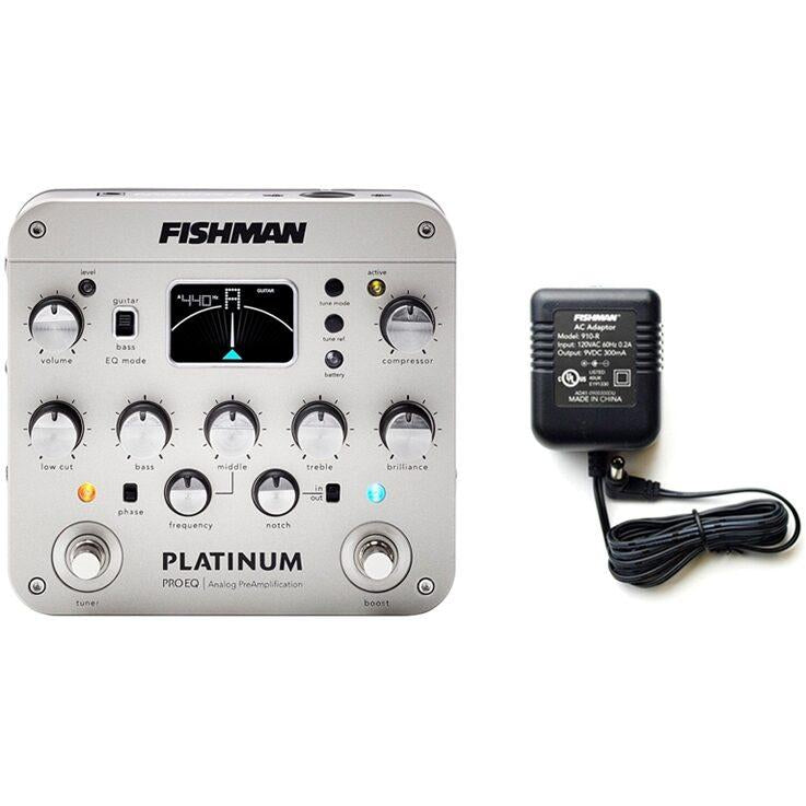 Fishman Platinum Pro EQ Analog Preamp Pedal, with Free Fishman 910R Power Supply
